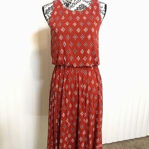 LOFT Midi Dress (Size Small)